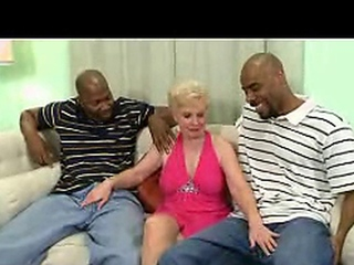 Mrs Jewel takes on 2 enormous dark-skinned dudes