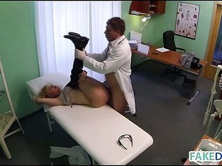 Doctor fools around his patient