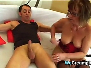 Granny pissed By young Cock