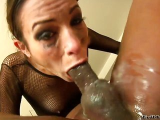 Amber Rayne longings Prince Yahshua stuff his snake in her face hole another time together with another time