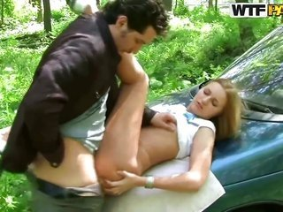 blond novice teenage princess Margo likes getting gorgeous in outdoor porn session