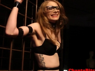 Lezdom blonde courtesan person punished