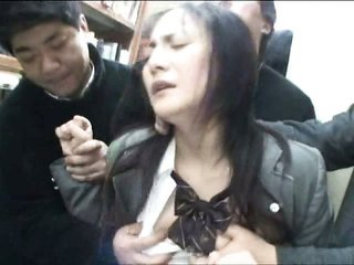 diaper lover Schoolgirl groped in Library
