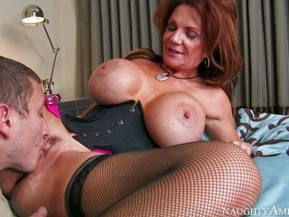 Deauxma is a marvelous ripened honey with priceless giant scoops. lewd honey in rayless nylons uncovers her jaw-dropping mangos as she gets her many t