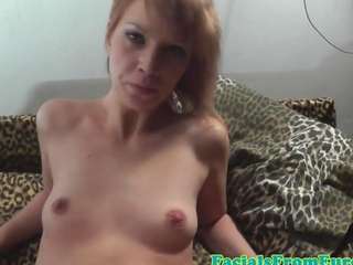 Cum well-disposed euro redhead copulates also sucks