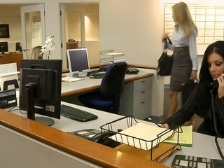 spicy blond honey fucking in office
