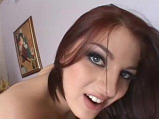 diaper lover redhead damsel in fishnet hosiery swallowing