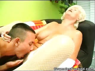 horny Granny Rides On A steely willy