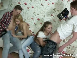 two sexually weird fellows, two yummy teen chicks and a digital camera