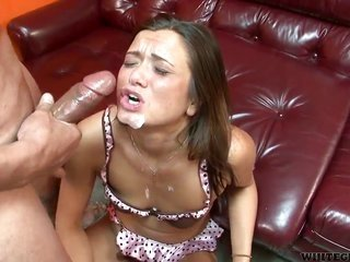 Cece Stone has let fly in her eyes as that sweetie acquires her titillating face guised in cum
