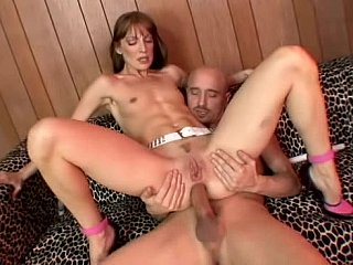 inexperienced redhead sweetie having anal act of sexual procreation