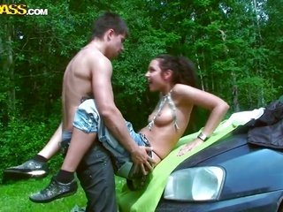 brunette hair Jocelyn is a fellatio junkie who is captivated by buddies sturdy pole