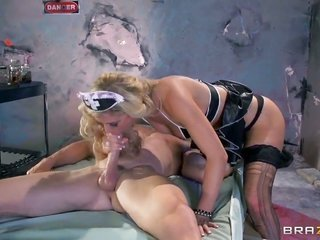 Johnny Sins desires to guide adorable Cherie Devilles swell cum guzzling gutter slut forever