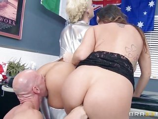 Johnny Sins states lush banging tricks to With huge butt hole with the serve of his rock cemented snake
