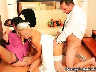 lustful bride over and above her sexy mom part6