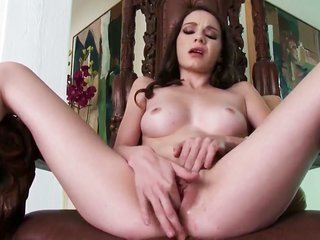 Rilee Marks with skinhead vagina going solely on camera