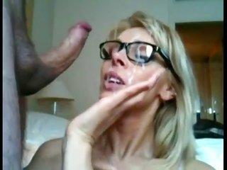 Milf earns huge facial spunkshot