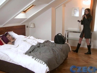 Czech Business maid cant get hands on plentiful of her girlfriends twat