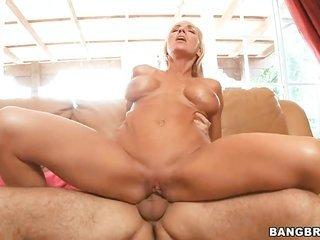 biggest tits natural blonde gathers facial after hard fucking