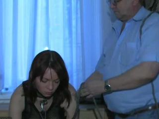 OldNanny honey young sweetie playing with old companion plus his old bulky mature