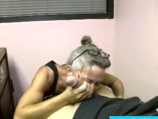 Granny milf with glasses all-consuming bj
