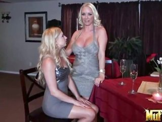 natural blonde Molly Cavalli having unbelievable gay girl banging with Lexi Belle