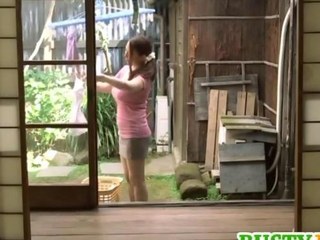 Mako busty is doggy screwed in menage a trois