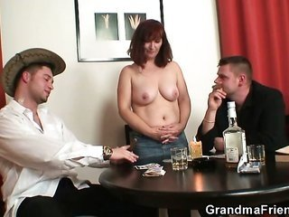 steely three-some with oldie next uncover body poker