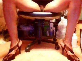 spruce Brown Wide-strap intrepid heels on top of upskirt