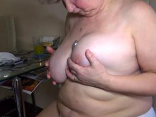 OldNanny bulky granny masturbation, alluring 2 males 1 female sex, callow girl and guy