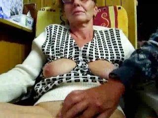 older man masturbates his wife with fingers