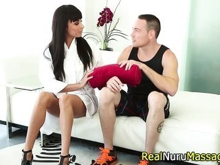 Nuru masseuse creampied