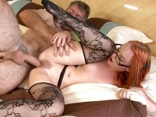 Steven French whips out his rod to fuck cute Dani Jensens cavity