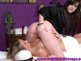 lez massage clients eats her masseuse
