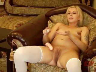 golden-haired asian Magda with bantam tities and baldheaded twat is in like manner gorgeous to stop toying her beaver