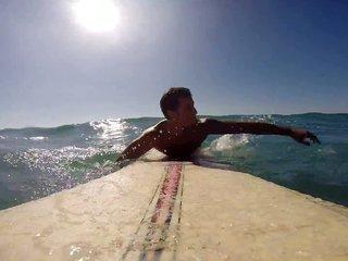 naked surfer