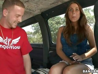 ardent this guy in red shirt is seducing this curvacious playgirl making her smile definitely loud