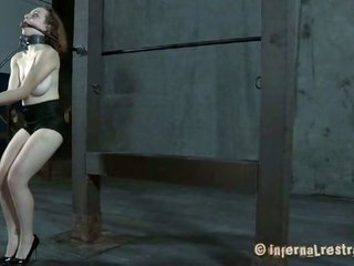 Gagged playgirl picks up discourteous pussy playing from hangman