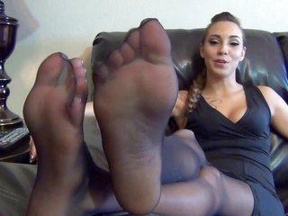 Sasha Foxx nylon soles pov